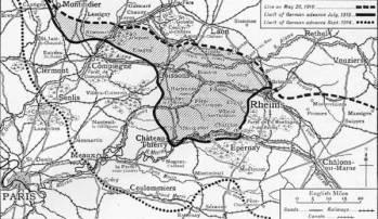 Aisne 1918 map