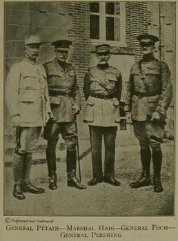 Foch, Petain, Haig, Pershing July 1918