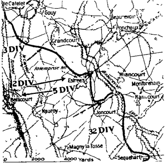 Beaurevoir Line map