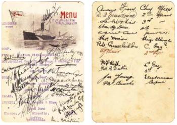 Castalia menu card