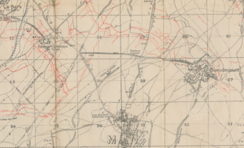 Flers trench map