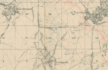 Lesboeufs trench map