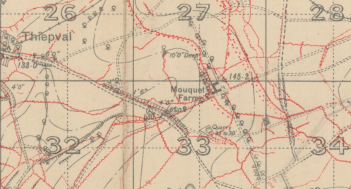 Mouquet Farm trench map