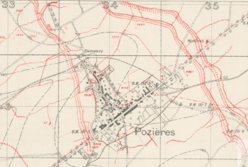 Pozieres trench map