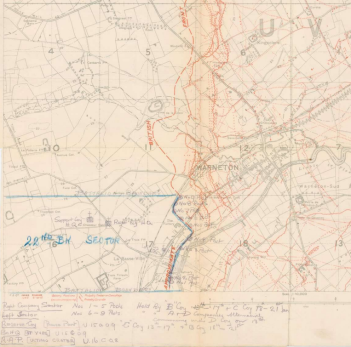 Warneton trench map.png