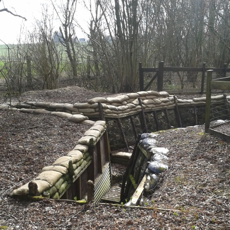Thiepval Wood trenches